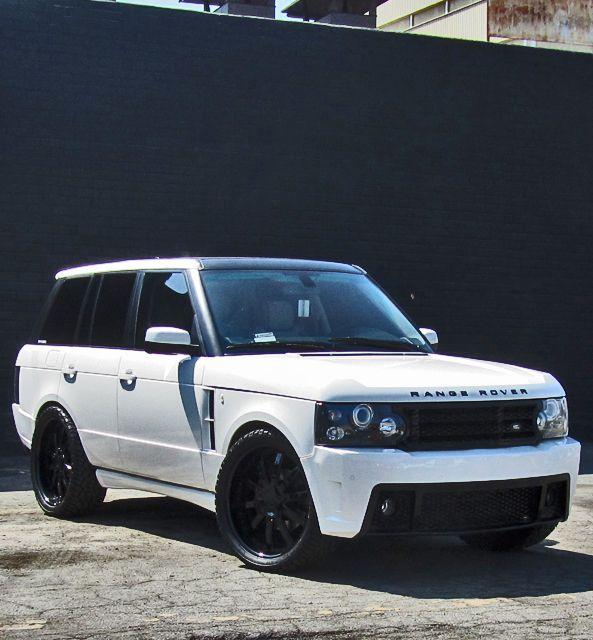 White Range Lowered Black Rims And Tinted Windows This