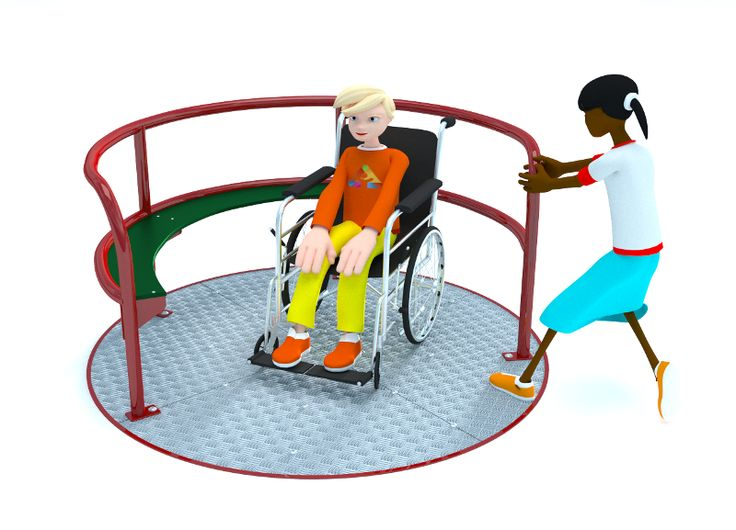 Wheelchair Roundabout Playground Equipment from Action Play & Leisure