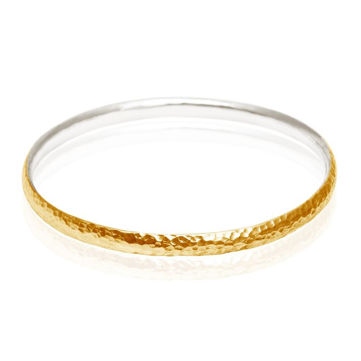 TEMPLE OF THE SUN JEWELLERY BYRON BAY - Hammered 5mm Bangle Two Tone Silver with Gold Exterior, $129.00 (http://www.templeofthesun.com.au/hammered-5mm-bangle-two-tone-silver-with-gold-exterior/)