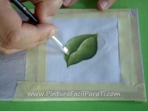 ▶ Tutorial Pintar Hojas en Tela - Pintura Facil Para Ti.com.wmv - YouTube