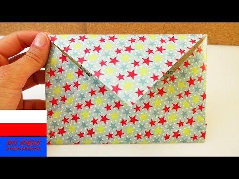 Koperta z kolorowego papieru | prosty pomysł na kopertę | origami - YouTube