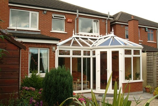 A P Shape conservatory built on this Dublin Home. The Conservatory has been built on matching brick walls and maximises the available space.