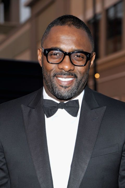 Take a good look, rumor has it Elba could be the next James Bond—distinguished gray and all.