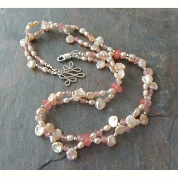 Hey, I found this really awesome Etsy listing at https://www.etsy.com/listing/154925098/delicate-pink-keshi-pearl-necklace-w