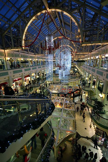 Stephen's Green Shopping Centre in Dublin City - looks like a girls night out...
