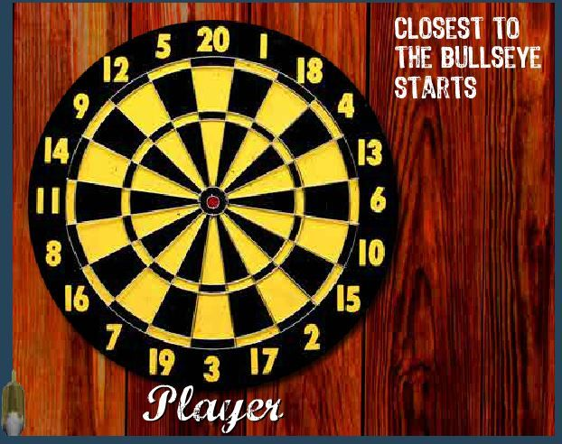 The game which works the other way around, minimise your points to win Bullseye!