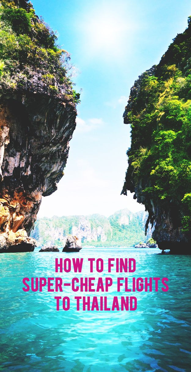 How to Find Super-Cheap Flights to Thailand. #travel #tips #tricks #deals #save #flight #Thailand