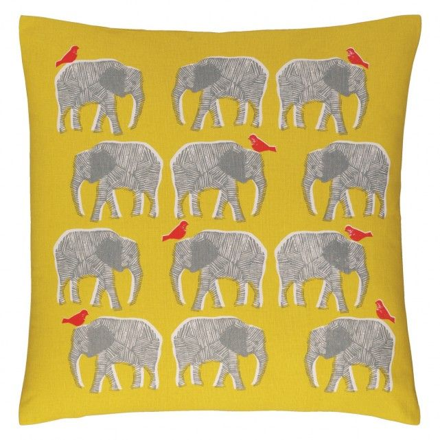 TOPSY Yellow patterned cushion 45 x 45cm | Buy now at Habitat UK
