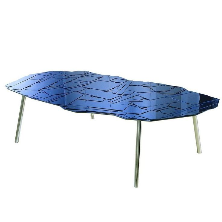 EDRA Brasilia Dining Table In Colored Methacrylate