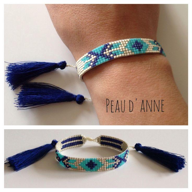 Petite manchette en perles fines miyuki : Bracelet par peaud-anne