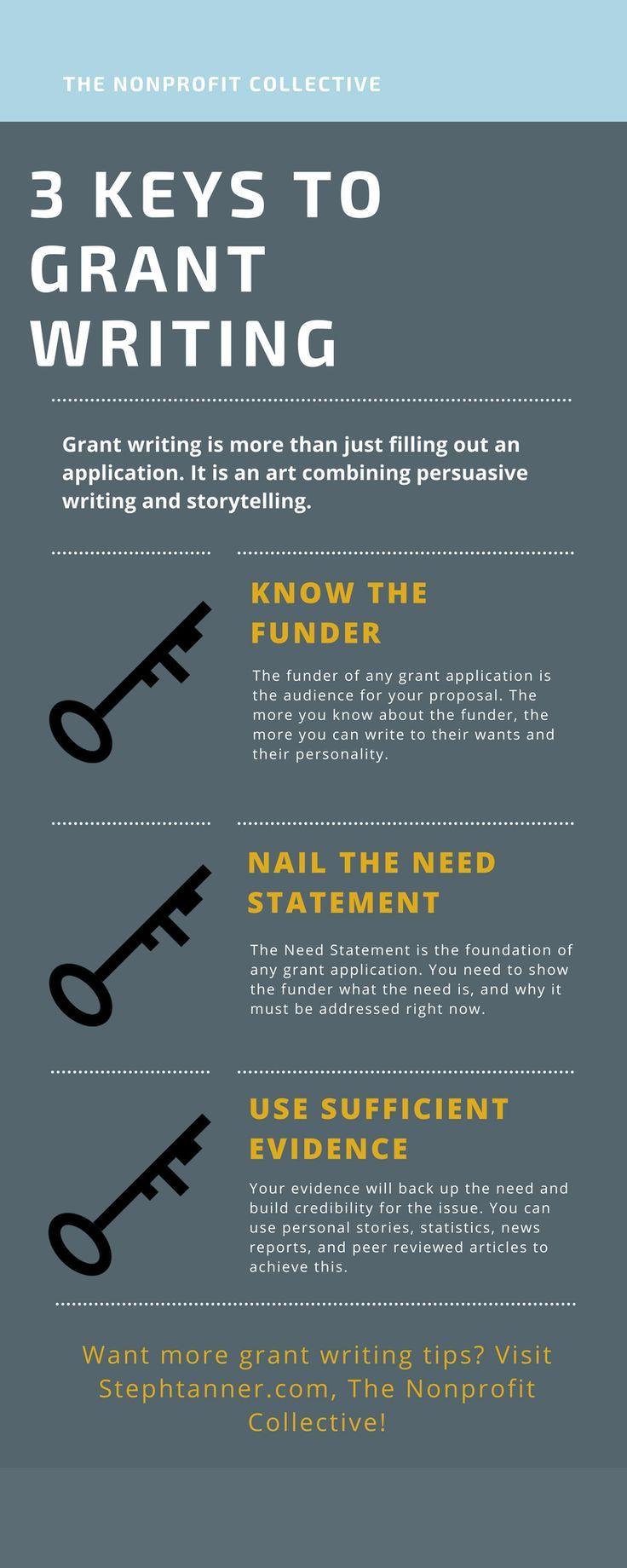 3 Keys to Great Grant Writing | Nonprofits | Pinterest
