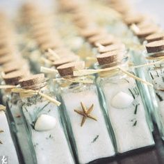 NAUTICAL WEDDING THEME IDEA : Infused sea salt wedding favors. Perfect for beach or boat weddings
