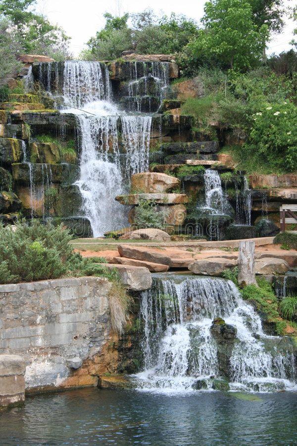 Waterfall Man Made Waterfall At Spring Park In Tuscumbia Alabama
