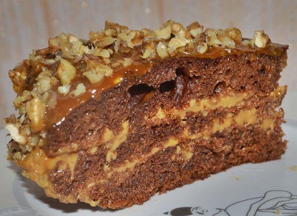 Торт «Черный принц» на кефире ( в мультиварке и духовке)
