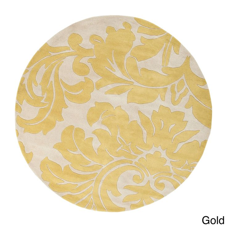Hand-tufted Paisley Floral Round Wool Area Rug (6' x 6') (
