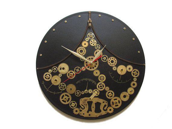 Wall Clock Steampunk Fantasy exclusive gift unique by OlgaArtShop, $99.00