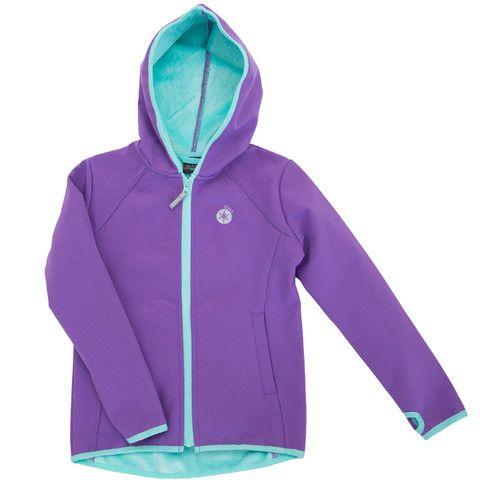 Buy Waterproof Kids' Fur Softshell Wet-weather Jacket - Girls Purple