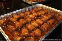 Brown sugar bacon wrapped weenies