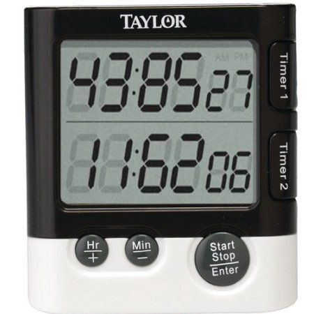 Taylor Dual Event Digital Clock/Timer, Black