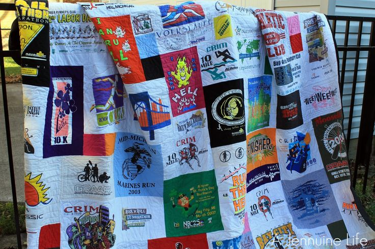 Too Cool T-Shirt Quilts | Jennuine Life: My Too Cool T-shirt Quilt
