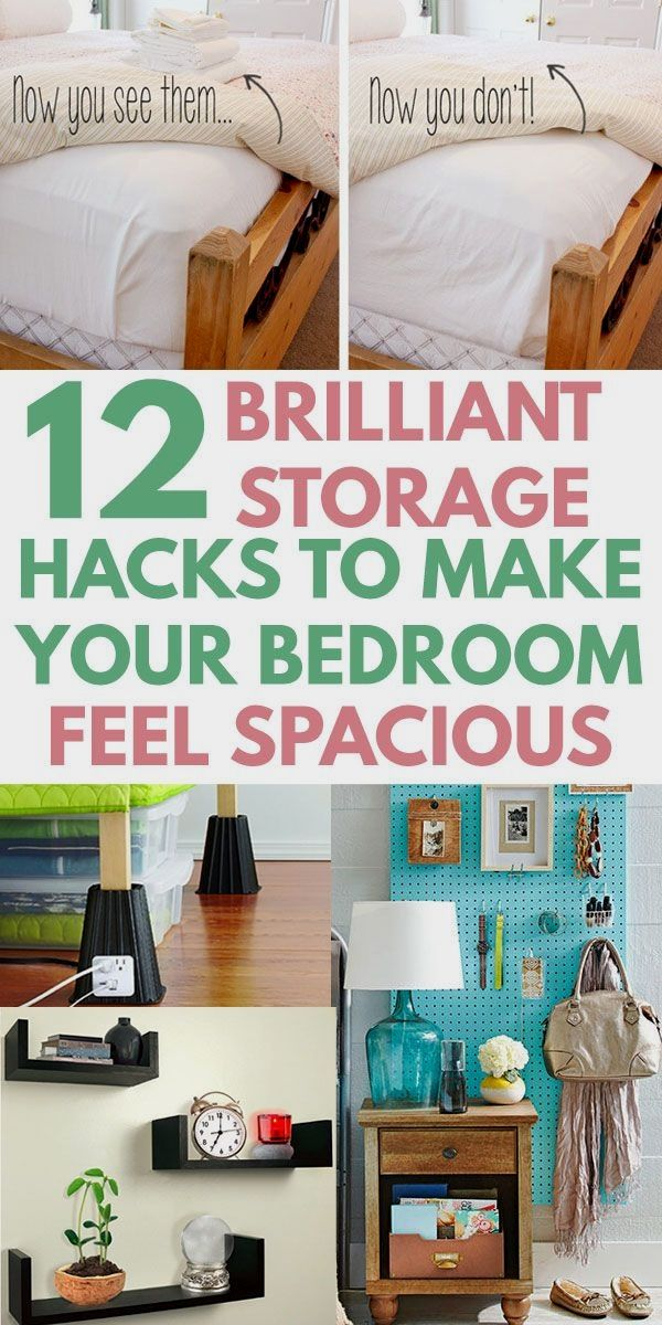12 Super Easy Bedroom Organization Ideas to SAVE TONS OF SPACE ...
