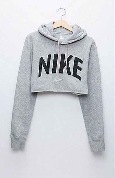 Nike cropped #hoodie