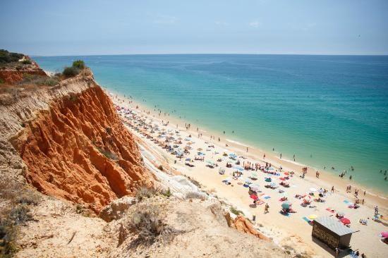 Best beaches of Portugal. No. 1: Praia da Falesia, Albufeira, Portugal