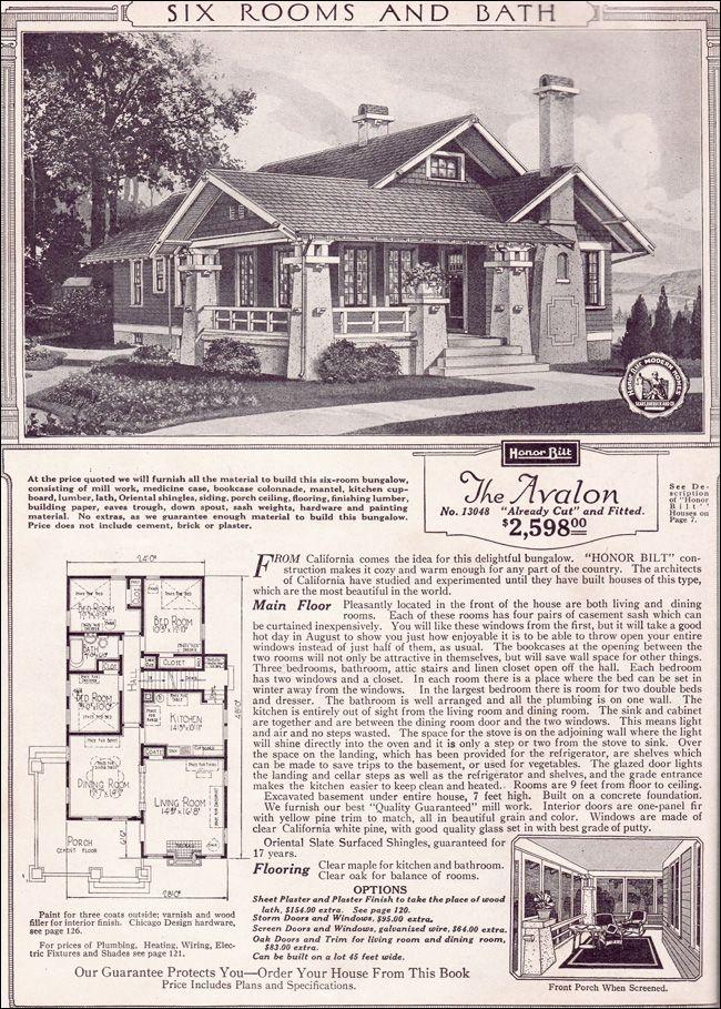 Sears Roebuck Kit Houses 1923 Retronaut Bungalow