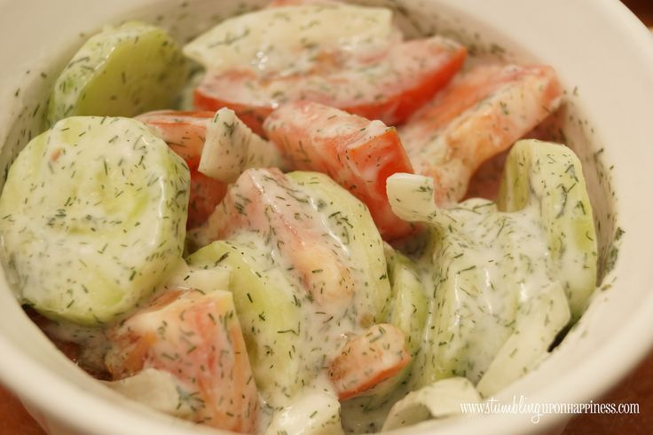 German Cucumber Salad - Stumbling upon Happiness