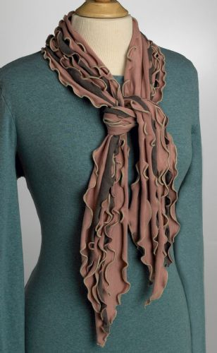 Frilly Fancy Scarf - Theses scarves are a great accent to any outfit. The gift giving season is in full bloom this time of year. What better to give, than a handmade gift from the heart?  These scarves look great; and, they are also quick and easy to make.