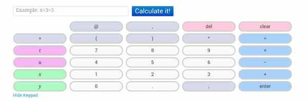 Résolution pas à pas des problèmes d'algèbre : Algebra Calculator #Internet #Calculatrice
