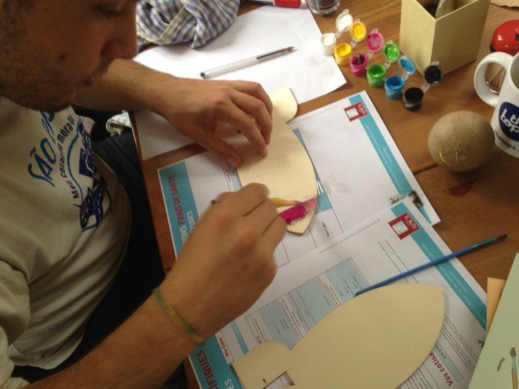 On s'applique aussi chez Pandacraft pour la réalisation de nos ateliers ! #navettespatiale