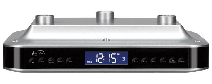 iLive iKB333S Wireless Bluetooth Under Cabinet Radio System, Silver