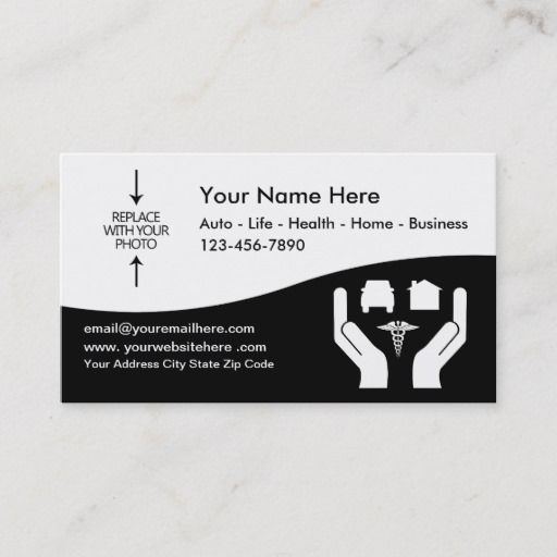 Insurance Agent Photo Template Business Card Zazzle Com In 2021 Insurance Agent Business Insurance Health Insurance Options