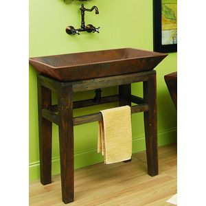 Create Photo Gallery For Website Sierra Copper Lexington Sink Stand ONLY SC LDW B Rustic Bathroom VanitiesRustic