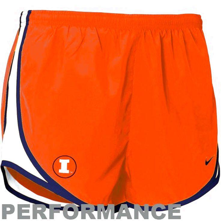 Nike Illinois Fighting Illini Women's Orange Dri-FIT Tempo Performance Shorts - $25.64