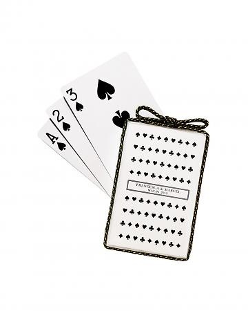 personalized cards: Custom Decks, Wedding Favors, Custom Plays, Cards Favours, Black White, Parties Favors, Martha Stewart Wedding, Plays Cards, Cards Favors
