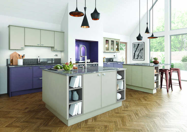 Thatcham Kitchens- Mereway Kitchens- Town & Country- Ely - Caffe Latte and Mulberry
