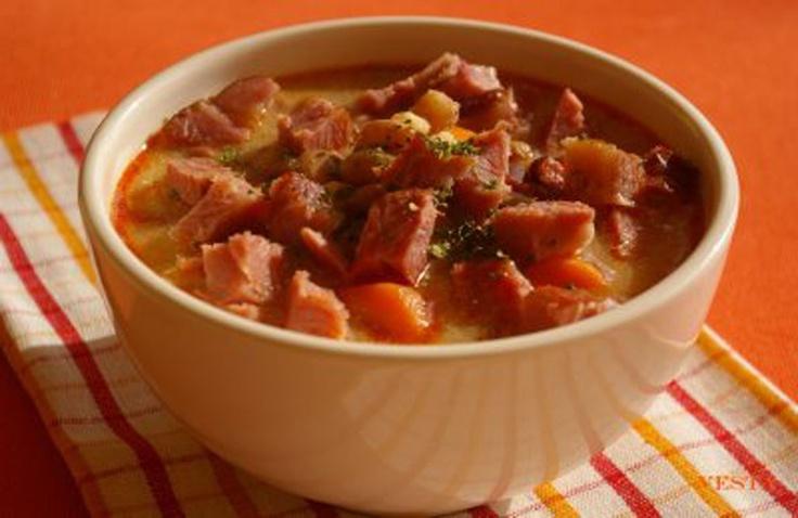 Jókai bableves (bean and smoked pork soup)