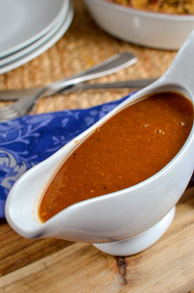 Slimming Eats Syn Free Gravy - gluten free, dairy free, vegetarian, paleo, Whole30, Slimming World and Weight Watchers friendly
