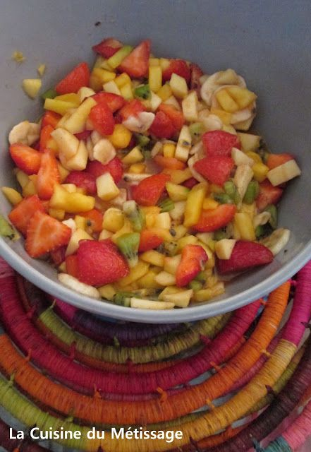 Salade de Fruits au Sirop de Mojito