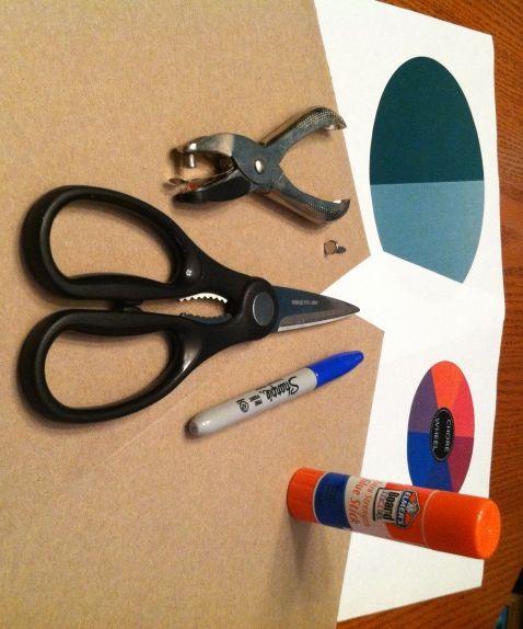 free downloadable chore wheel