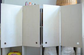 DIY plywood doors for Ikea EXPEDIT shelf - IKEA Hackers