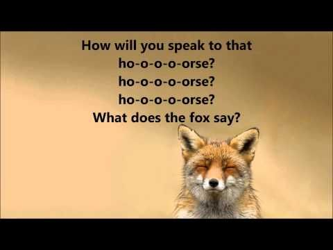 What does the fox say lyrics song - photo#37