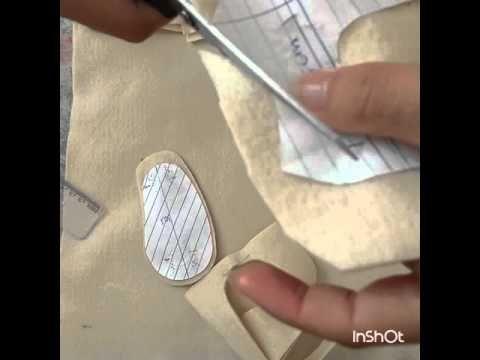 aprenda a fazer molde de sapatinho de BB, molde façil!! - YouTube