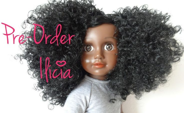 Ilicia My Black Doll Natural Hair Doll Donkere Pop Kroeshaar Krullen