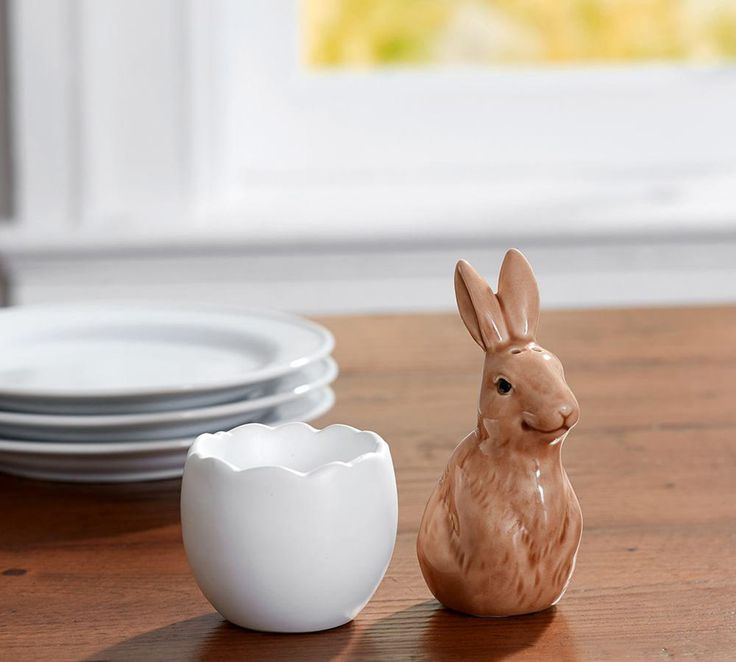 Bunny in Egg Salt & Pepper Shakers