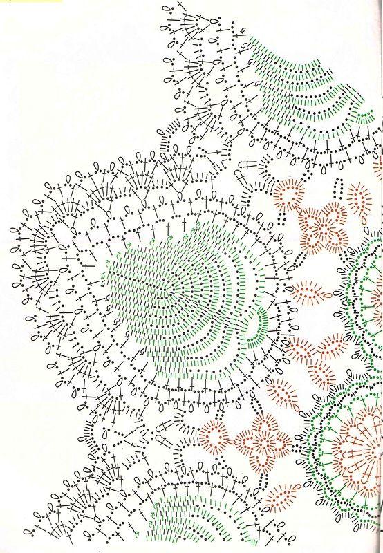 Crochet irlandese centrino di pizzo. schema 1
