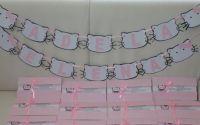 Invitatii si Plicuri de bani Hello Kitty