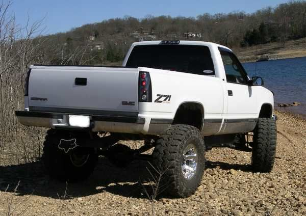 "White GMC Sierra Truck ""Lifted"" nicely"